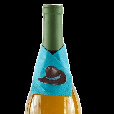 cowboy hat wine snazzie