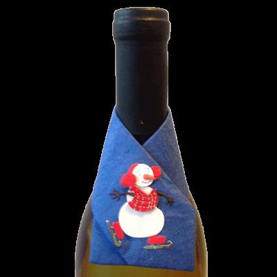 snowman wine snazzie